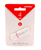 4 GB USB Flash SmartBuy Crown, белый